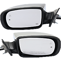 Mirror - Driver and Passenger Side (Pair), Power, Heated, Chrome, With Turn Signal, Memory, Blind Spot Function and Puddle Lamp