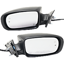 Mirror - Driver and Passenger Side (Pair), Power, Heated, Paintable, With Turn Signal, Memory, Blind Spot Function and Puddle Lamp