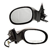 Mirror - Driver and Passenger Side (Pair), Power, Textured Black, For Sedan