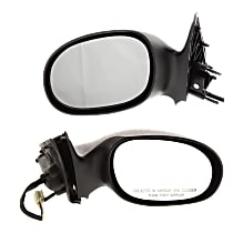 Kool Vue Power Mirror, Driver and Passenger Side, Sedan, Non-Folding, Non-Heated, Textured Black