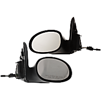 Manual Remote Mirror, Driver and Passenger Side, Wagon, Non-Folding, Textured Black