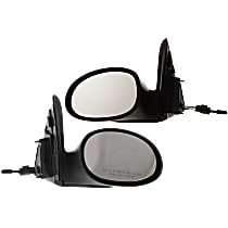 Kool Vue Manual Remote Mirror, Driver and Passenger Side, Wagon, Non-Folding, Textured Black