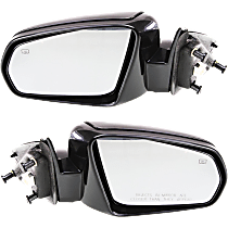 Mirror - Driver and Passenger Side (Pair), Power, Heated, Paintable, For Sedan