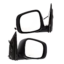 Kool Vue Power Mirror, Driver and Passenger Side, Manual Folding, Heated, w/o Memory and Signal, 2 Caps Paintable & Textured Black
