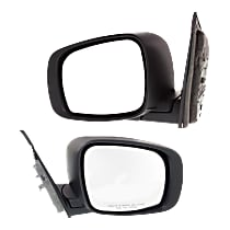 Kool Vue Manual Mirror, Driver and Passenger Side, Manual Folding, Textured Black