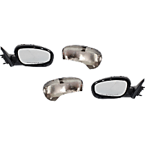Mirror - Driver and Passenger Side (Pair), Power, Heated, Folding, Chrome
