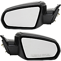 Power Mirror, Driver and Passenger Side, Convertible, Non-Folding, Non-Heated, Paintable