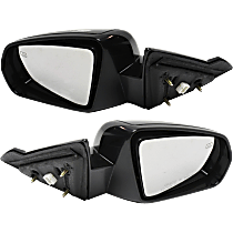 Power Mirror, Driver and Passenger Side, Convertible, Non-Folding, Heated, Paintable