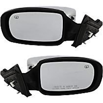 Power Mirror, Driver and Passenger Side, Convertible, Manual Folding, Heated, Chrome