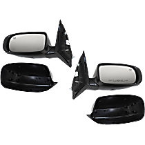 Power Mirror, Driver and Passenger Side, Sedan, Manual Folding, Heated, Paintable