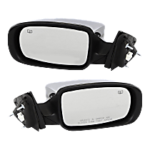 Power Mirror, Driver and Passenger Side, Sedan, Manual Folding, Heated, Chrome