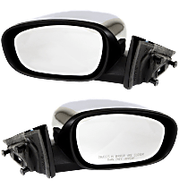 Power Mirror, Driver and Passenger Side, Non-Folding, Heated, Chrome