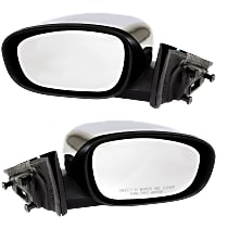 Kool Vue Power Mirror, Driver and Passenger Side, Non-Folding, Heated, Chrome