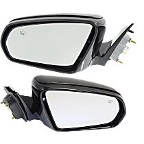 Mirror - Driver and Passenger Side (Pair), Power, Heated, Power Folding, Paintable, For Sedan