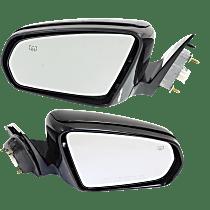 Power Mirror, Driver and Passenger Side, Sedan, Power Folding, Heated, Paintable