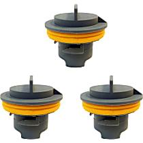 Bulb Socket - Direct Fit, Set of 3 Rear