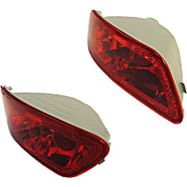 Rear, Driver and Passenger Side Fog Light, Without bulb(s)