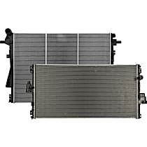 Aluminum Core Plastic Tank Radiator, 38.38 x 27.69 x 1.63 in. Core Size