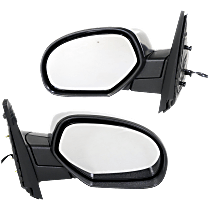 Mirror - Driver and Passenger Side (Pair), Power, Heated, Folding, Chrome, Models With Off Road Package