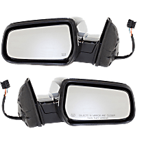 Mirror - Driver and Passenger Side (Pair), Power, Heated, Chrome, With Memory, For Models With RPO-DL9 Mirror