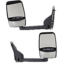 Mirror - Driver and Passenger Side (Pair), Towing, Textured Black, Dual Glass