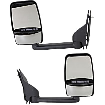 Kool Vue Manual Mirror, Driver and Passenger Side, Manual Folding, Towing w/ Dual Glass, Textured Black