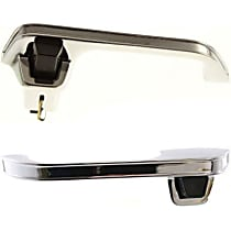 Front or Rear, Driver and Passenger Side Exterior Door Handle, Chrome