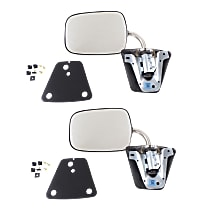Manual Mirror, Driver and Passenger Side, Manual Folding, Below Eyeline Type, Chrome