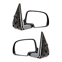 Mirror - Driver and Passenger Side (Pair), Power, Heated, Folding, Textured Black With Puddle Lamp