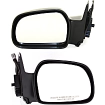 Kool Vue Manual Mirror, Driver and Passenger Side, Non-Folding, Paintable