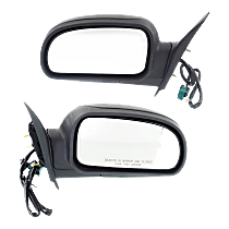 Mirror - Driver and Passenger Side (Pair), Power, Heated, Folding, Textured Black, 1st Design