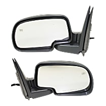 Kool Vue Power Mirror, Driver and Passenger Side, Manual Folding, Non-Towing, HTD, w/o Memory, Signal, & Puddle Light, Textured Black