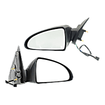 Mirror - Driver and Passenger Side (Pair), Power, Textured Black, 2004-2007 Style