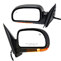 Power Mirror, Driver and Passenger Side, Manual Folding, Heated, w/ Memory and Signal (Amber Lens) Light, Paintable
