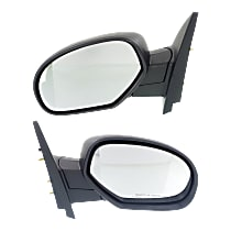 Kool Vue Manual Mirror, Driver and Passenger Side, Manual Folding, Non Towing, Textured Black