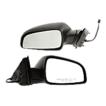 Mirror - Driver and Passenger Side (Pair), Power, Textured Black, 2008-2012 Style