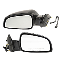 Power Mirror, Driver and Passenger Side, Manual Folding, Non-Heated, Paintable