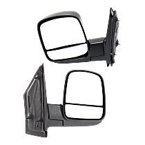 Manual Mirror, Driver and Passenger Side, Manual Folding, Textured Black