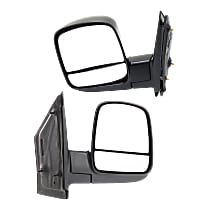 Mirror - Driver and Passenger Side (Pair), Textured Black, With Standard Arm
