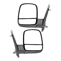Mirror - Driver and Passenger Side (Pair), Power, Heated, Folding, Textured Black, With Standard Arm