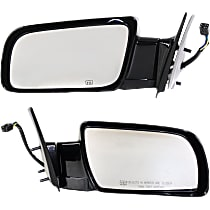 Kool Vue Power Mirror, Driver and Passenger Side, Manual Folding, Standard Type, Heated, w/o Signal, Paintable
