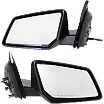 Mirror - Driver and Passenger Side (Pair), Power, Folding, Textured Black