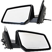 Kool Vue Power Mirror, Driver and Passenger Side, Manual Folding, Non-Heated, w/o Signal, Textured Black