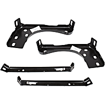 Front, Driver and Passenger Side Bumper Bracket - Inner and Outer, Mounting Bracket, w/o Sport Pkg, Old Body Style