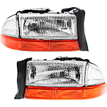Driver and Passenger Side Headlight, With bulb(s) - (From 8-18-97)