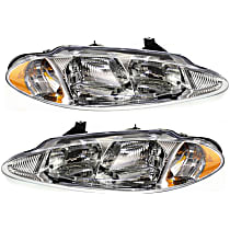 Driver and Passenger Side Halogen Headlight, With Bulb(s) - Without Leveling