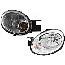 Driver and Passenger Side Halogen Headlight, With Bulb(s) - 2003-2005 New Body Style
