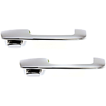 Front and Rear, Passenger Side Exterior Door Handle, Chrome