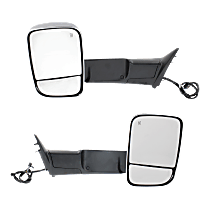 Mirror - Driver and Passenger Side (Pair), Power, Heated, Power Folding, Chrome, Turn Signal, Memory, Puddle Lamp, w/ Temperature Sensor