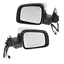 Mirror - Driver and Passenger Side (Pair), Power, Heated, Folding, Chrome, With Turn Signal and Memory